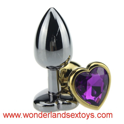Stainless Steel Anal Butt Plug Heart Shaped Jeweled Adult Sex Toys For Woman Men Erotic Sex Products