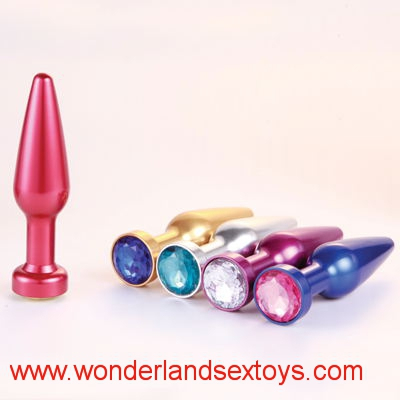 Butt Plugs Toys Stainless Steel+Crystal Jewelry Sex Products