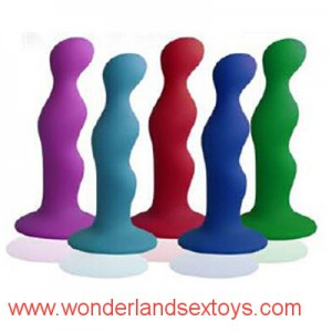 Plaisir Anal Beginners Series Flexible Silicone Anal Beads Sex toys Butt Plug Insert w / Fort Sucker, Unisexe Sex Toys