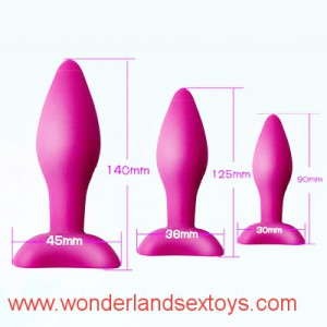 3 Sizes Silicone Sucker Anus Plug for Woman Man Waterproof Adult Sex Toys Product