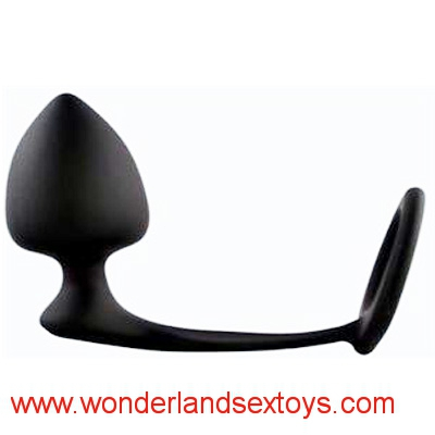 Men Climax Fantasy Silicone Male Prostate Massager Cock Ring Anal Sex Toys Butt Plug for Men, Adult Erotic Anal Sex Toys