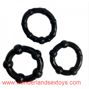 Stay Hard Beaded Triple Time Delay Penis Rings Cock Rings Set for Man, Erotic Sex Toys Adult Sex Products for Couple