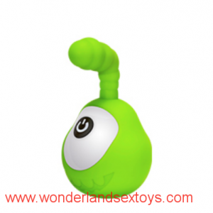 Bombomda Big Eyed Monster USB Dual Shock Silent Egg Silicone Pocket Vibrators Adult Sex Toys For Female