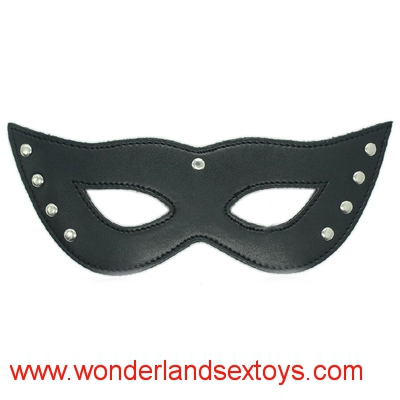 Bondage Restraints Mysterious Leather Eye Mask Nine Nails Sex Products Toys For Women Use Fetish Role Play Adult Games