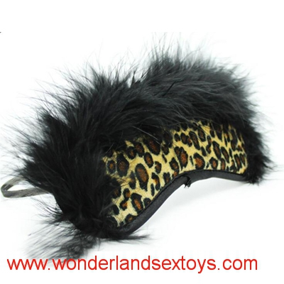 Adult Games New Arrival leopart design Eye Mask with feather Flirting Supplies For Couple Sex Fetish Toys Blindfold For women