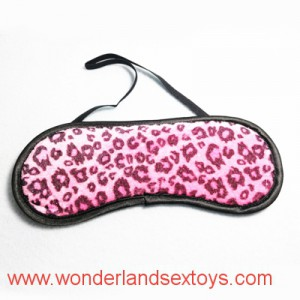 Leopard design Cloth Eye Mask  Flirting Supplies For Couple Sex Fetish Toys Blindfold
