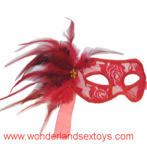 PVC & feather Mask Cutout Eye Mask for Masquerade Party / Halloween Dress Costume