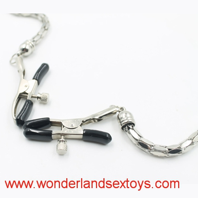 Male female Stainless steel metal breast nipple clamps fetish adult game sex toy for women men couple