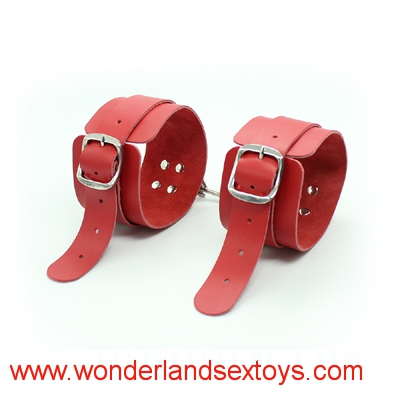 Sex Game Handcuffs PU Leather Restraints Bondage Cuffs Roleplay Costume Tools Sex toys for Couples