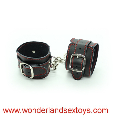 PU Leather Handcuffs for Sex, Fetish Bondage Restraints Wrist Hand Cuffs, Sex Toys for Couples, Adult Games, Sex Products
