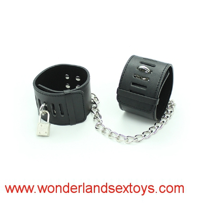 Leather Bondage Underbed Bedroom Restraint cuffs for Role Play ,adult sex toys