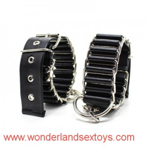 New design Leather Bondage Underbed Bedroom Restraint cuffs for Role Play ,adult sex toys