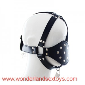 PU cuir Mouth Ball Gag Harnais Bondage Mouth Gags Stuffed billes Lirting jouets pour adultes Jeu Sex Toy