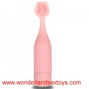 G-Spot Silicone Vibrator with Brush Head
