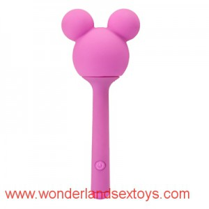 G-Spot Silicone Vibrator with Mickey Head