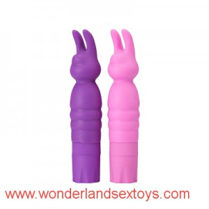 G-Spot Silicone Vibrator with Rabbit head