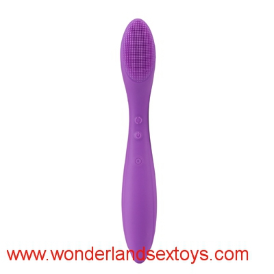 Rechargeable 12 frequency vibration, liquid silicone vibrator with double motors