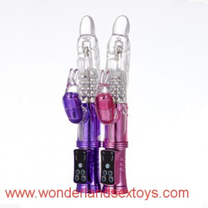 Rabbit Rotation Vibrators, 12 frequency Waterproof Sexy Vibrating Vibe,Sex Toys