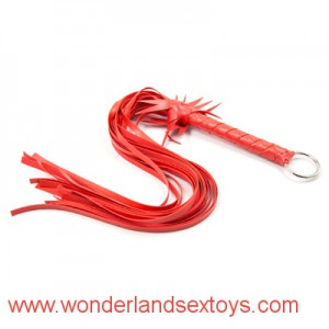 Environmental protection material Red Leather scattered whip,Adult game for couples,Sex toys whips floggers