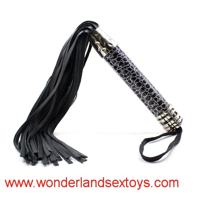 Leather Adult Whip With Metal Handle Passion Utensils Stage Props Adult Sexual Game Toy for Couples Flogger Fetish SM Spank Lash