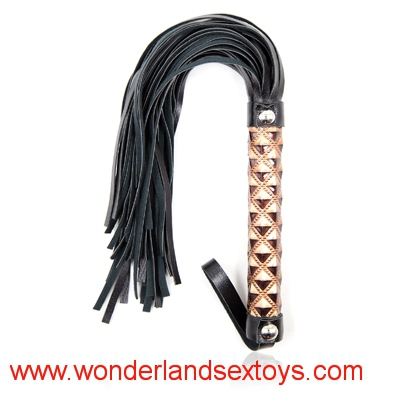 Spanking Tassel Lash Whip, Fetish Whip Flogger Sex Toys For Couples ,Sexy Policy Knout Whip For Adult Games golden Handle