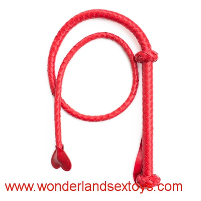 Red Long Leather Sex Spanking Whip Adult male female slave queen costume roleplay game flirt fetish toys for women men couples