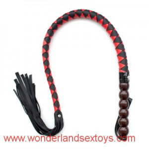Balls Handle Sexy Whip Black & Red Pu Leather Whips,Sex Toy For Couples, Adult Games,novelty Knout