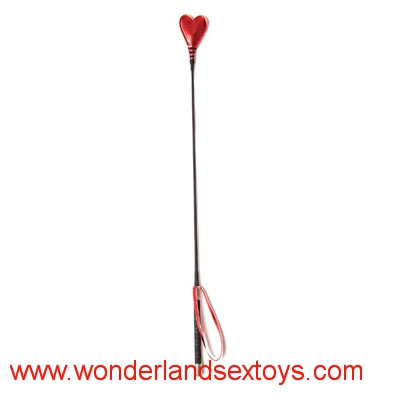 65CM Red PU Leather Handle Heart Sex Whip,Flogger Whip,Spanking Paddle,Sex Products For Women & Men