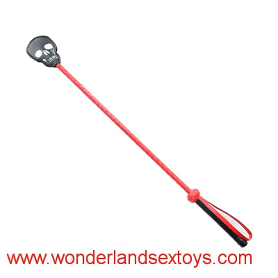 BDSM Sex Toys for Couples Skull Spanking Paddle Leather Ass Flogger Adult Slave Game Whip Fetish Lash Sexy Taws