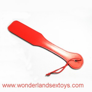 Solid Red Leather Beat Paddle Flog Kit Submissive Slave Kinky Fetish BDSM Torture Gear Adult Sex Toy