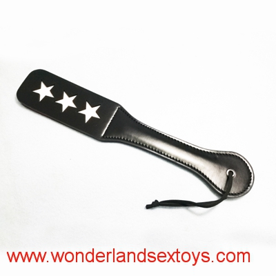 Sex Toys Double Layers Leather Paddle With Three Stars Spanking Ass Flogger Whip Erotic Toys For Women Men Couples Adult Game